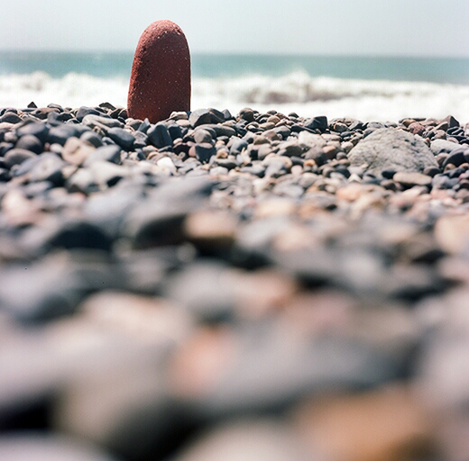 Rocks on a beach somewhere in California.  Rolleiflex 75mm f3.5